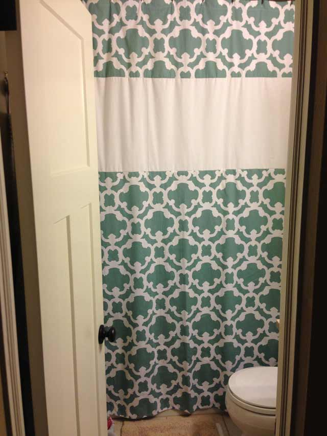 How to Make a Floor-to-Ceiling Shower Curtain | Checking In With Chelsea