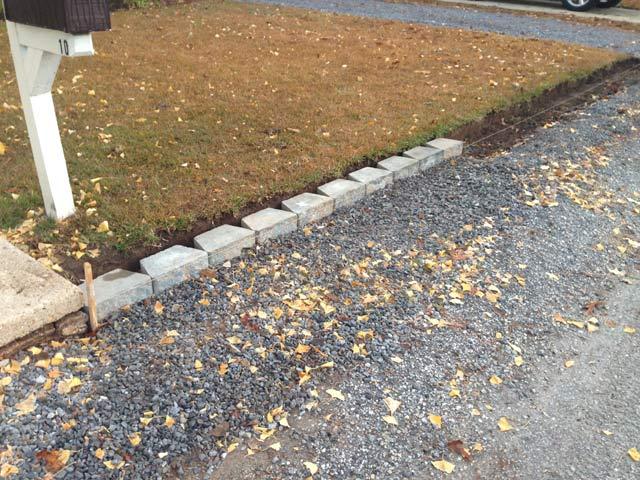 retaining wall bottom row half done