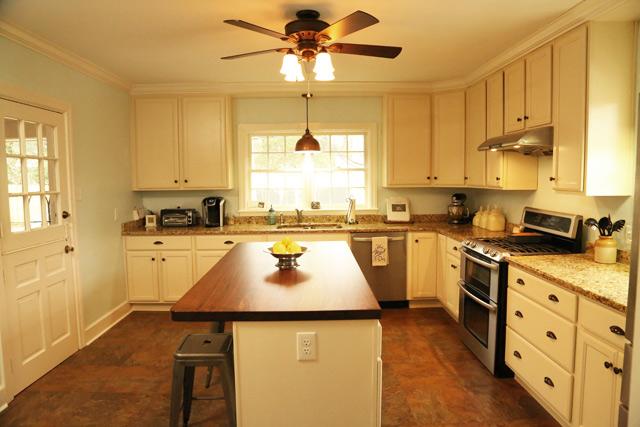 Kitchen With Black Walnut Island