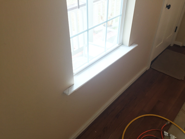 window stool sitting in untrimmed window sunny day outside & How To Install Craftsman Window Trim | Checking In With Chelsea islam-shia.org