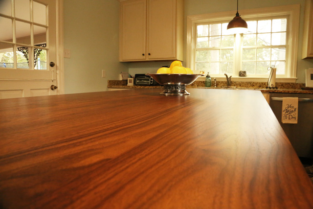 black walnut wood countertop kitchen island
