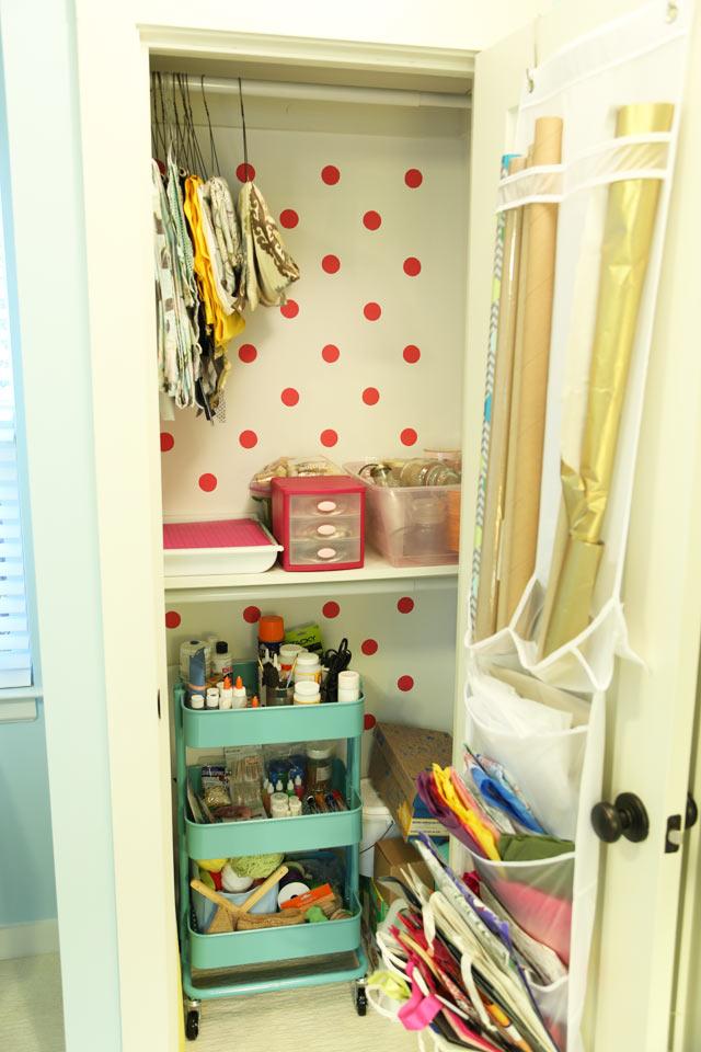 Craft Closet After Organization