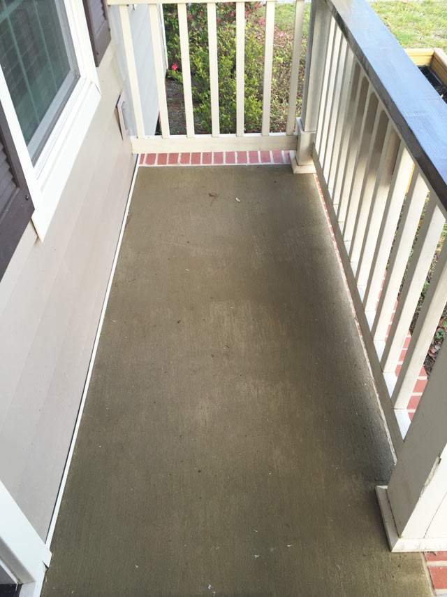 restore sage green coating on concrete porch