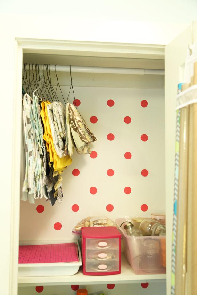 Top Shelf of Craft Closet-After