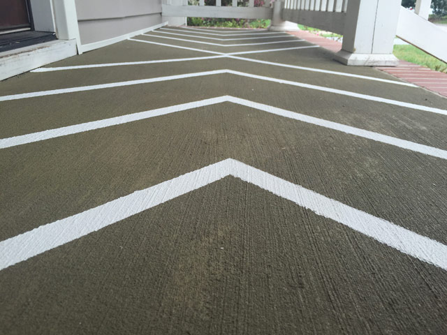 Completed Stripes on Front Porch