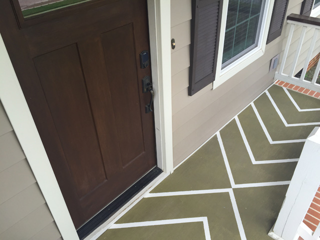 Completed Stripes on Front Porch-2