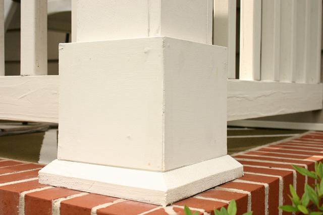 Column Base After Caulk and Paint