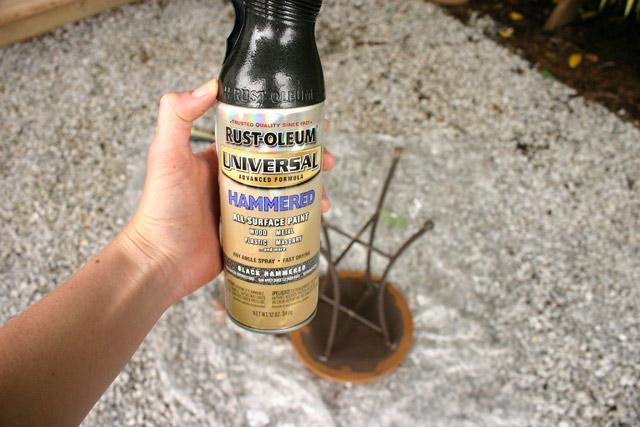 Rust-Oleum hammered black spray paint