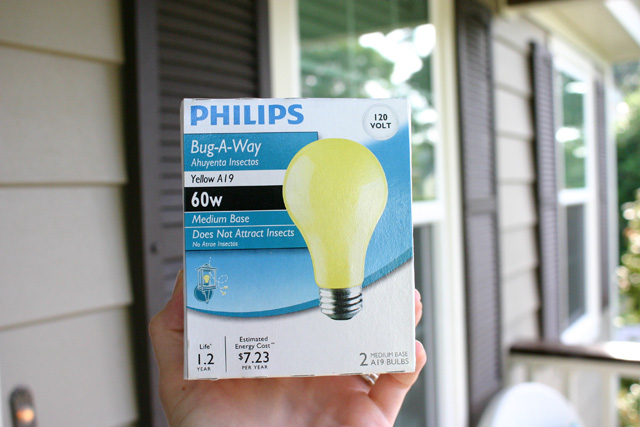 Bug-A-Way Yellow Light Bulbs in Box
