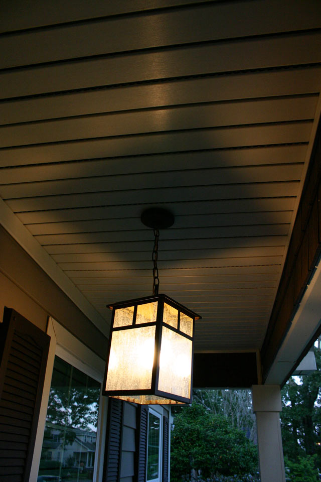 Pendant Light Hanging at Dusk
