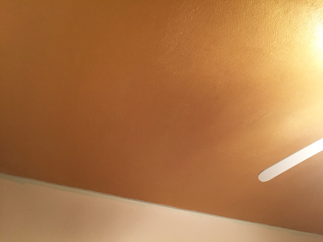 Gold Ceiling Paint After Second Coat
