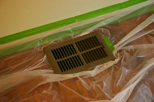 HVAC Vent Holding Plastic in Place
